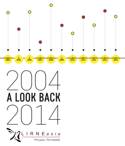 (cover) LIRNEasia 2004-2014 A look back