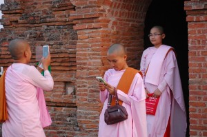 Buddhist nuns and their phones
