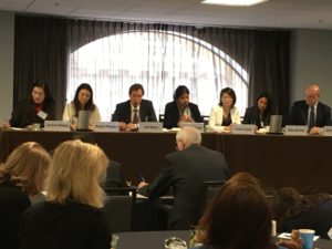 "Image showing Helani Galpaya among other panelists at the ""Asian Liveable Cities"" Forum in San Fransisco"