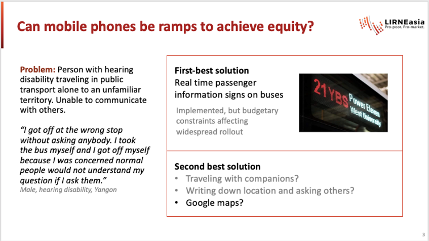 Can smartphones be ramps to achieve equity?